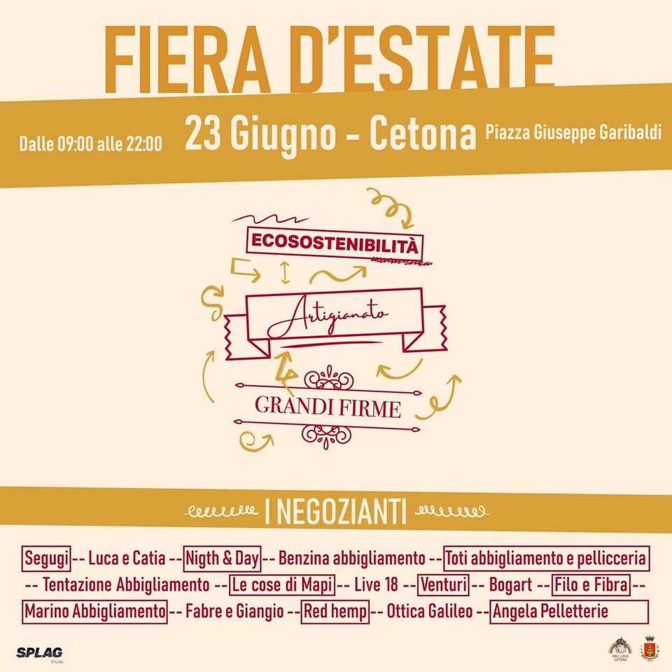 Fiera Estate Cetona 2019